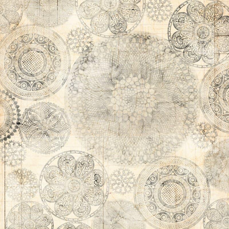 Diseño sucio del fondo de Doiley del cordón