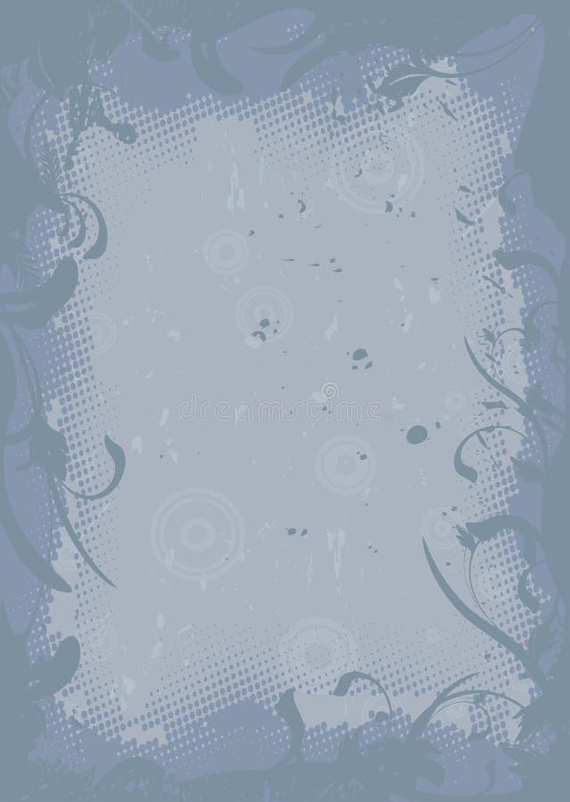 Diseño sucio floral ilustración del vector