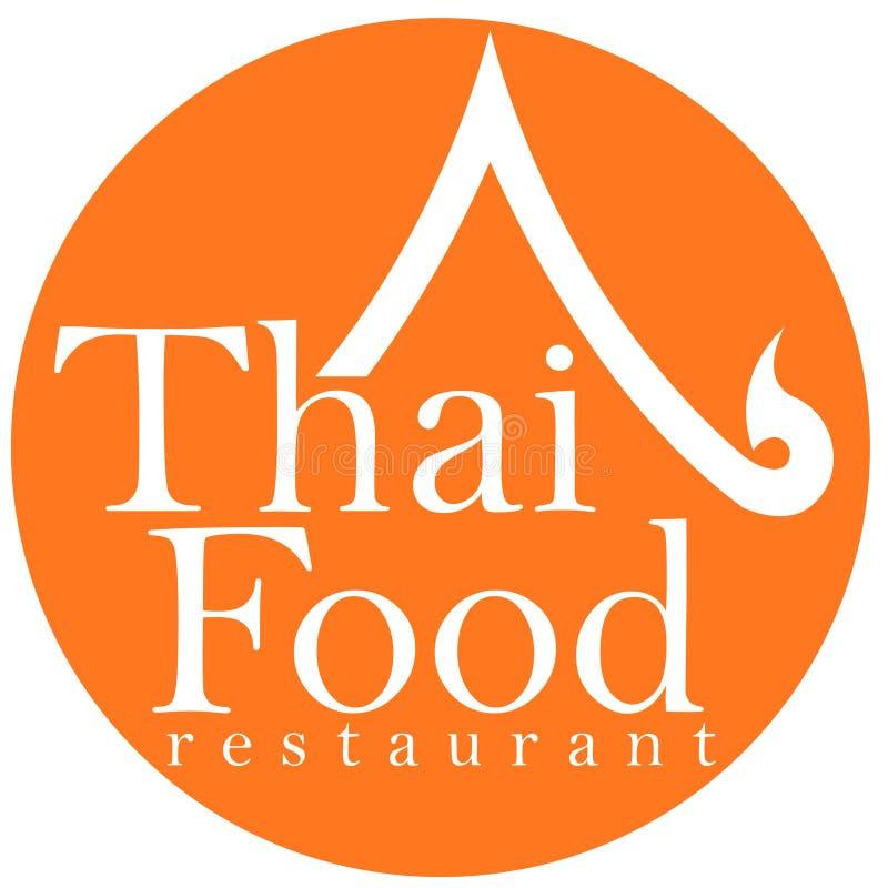 Diseño tailandés de la insignia del restaurante del alimento stock de ilustración