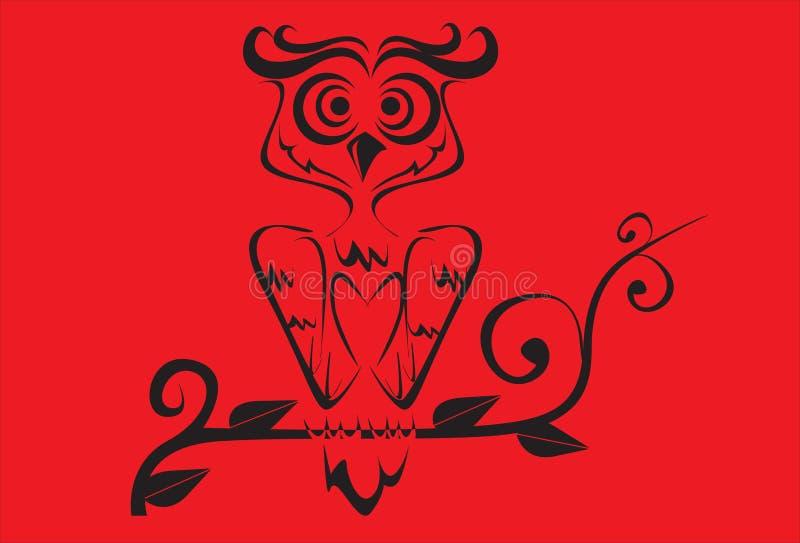 Diseño tailandés del arte del pájaro ilustración del vector