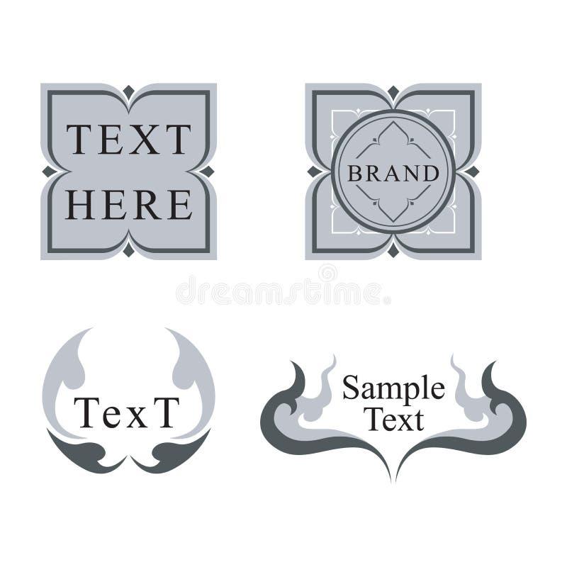 Diseño tailandés del logotipo stock de ilustración