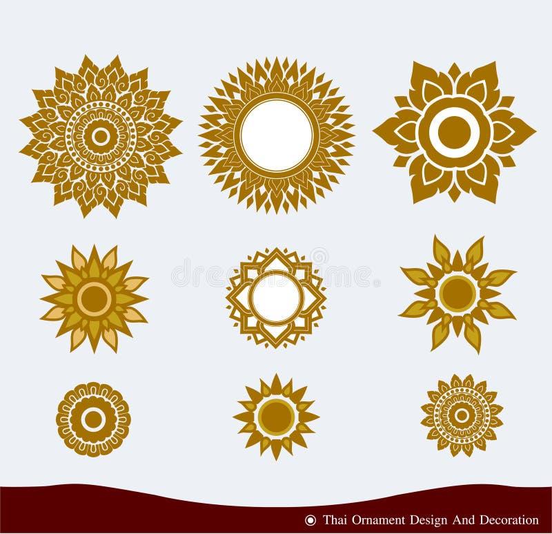 Diseño tailandés del ornamento ilustración del vector