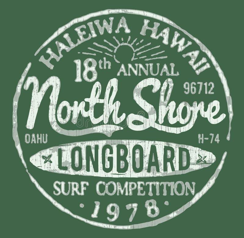 Diseño temático del vintage de la resaca del norte de la orilla libre illustration