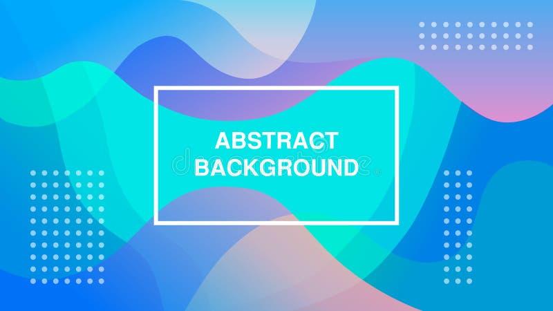 Diseño texturizado dinámico del fondo con estilo de la pendiente 3D, en color azul y purpúreo claro Fondo del vector Eps10 Para a libre illustration