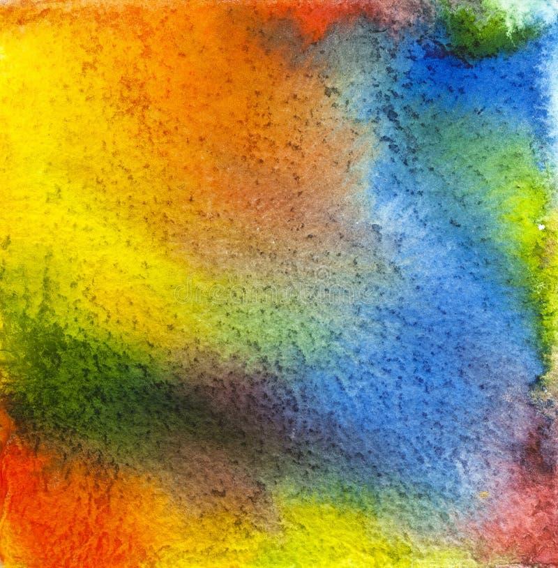Diseño texturizado tinta de la acuarela imagen de archivo