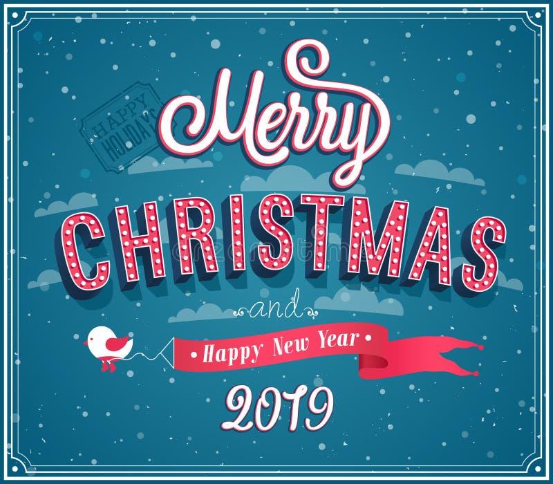 Diseño tipográfico de la Feliz Navidad fotos de archivo libres de regalías