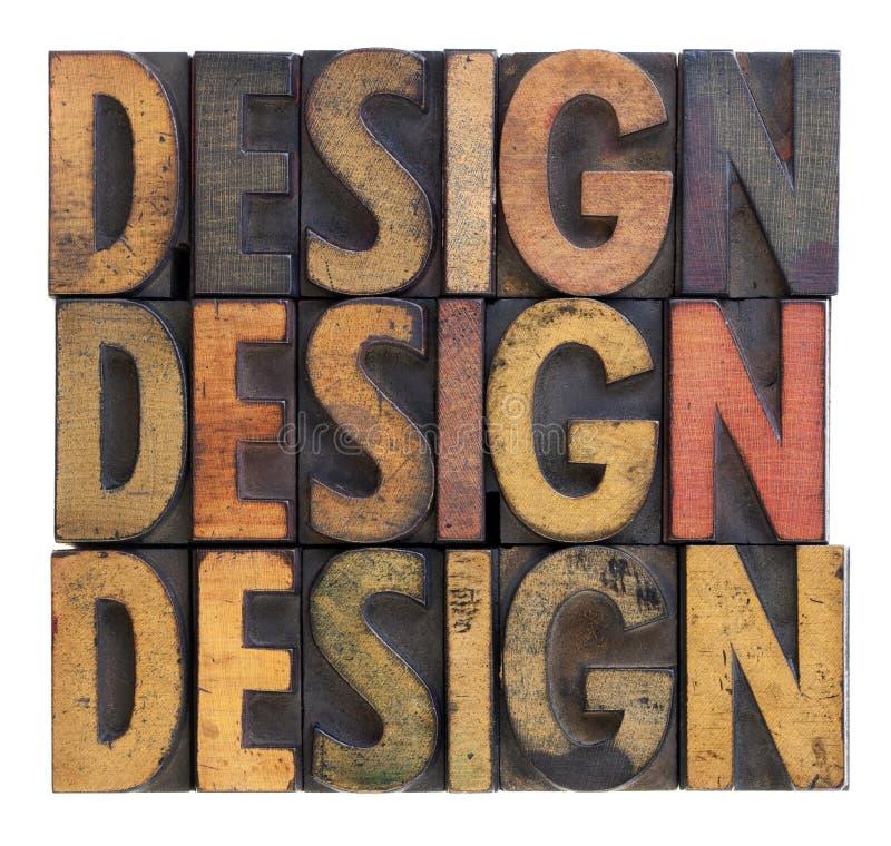 Diseño - tipografía de madera de la vendimia imagen de archivo libre de regalías