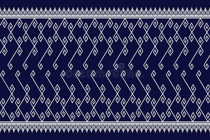 Diseño tradicional del modelo étnico geométrico para el fondo, alfombra, papel pintado, ropa, envolviendo, batik, tela, sarong, i ilustración del vector