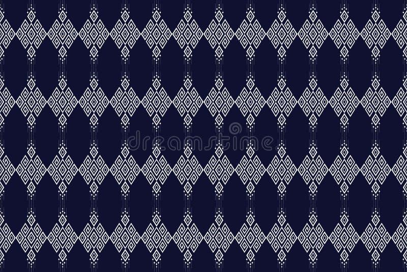 Diseño tradicional del modelo étnico geométrico para el fondo, alfombra, papel pintado, ropa, envolviendo, batik, tela, sarong, i stock de ilustración