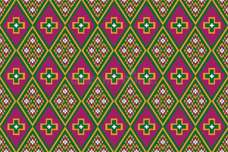 Diseño tradicional del modelo étnico geométrico para el fondo, alfombra, papel pintado, ropa, envolviendo, batik, tela, sarong, i libre illustration