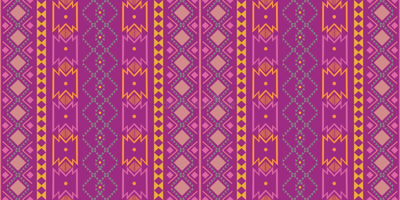 Diseño tradicional del modelo inconsútil oriental étnico geométrico para el fondo, alfombra, papel pintado, ropa, envolviendo, ba stock de ilustración