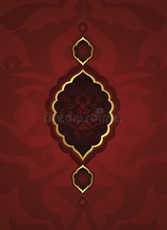 Diseño tradicional del oro del otomano ilustración del vector