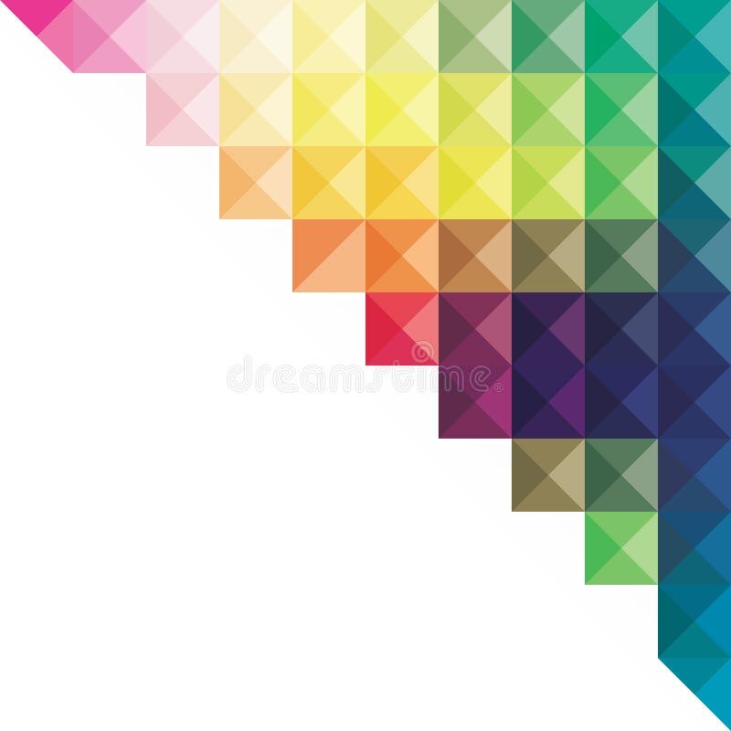 Diseño triangular colorido creativo de la bandera del diseño stock de ilustración