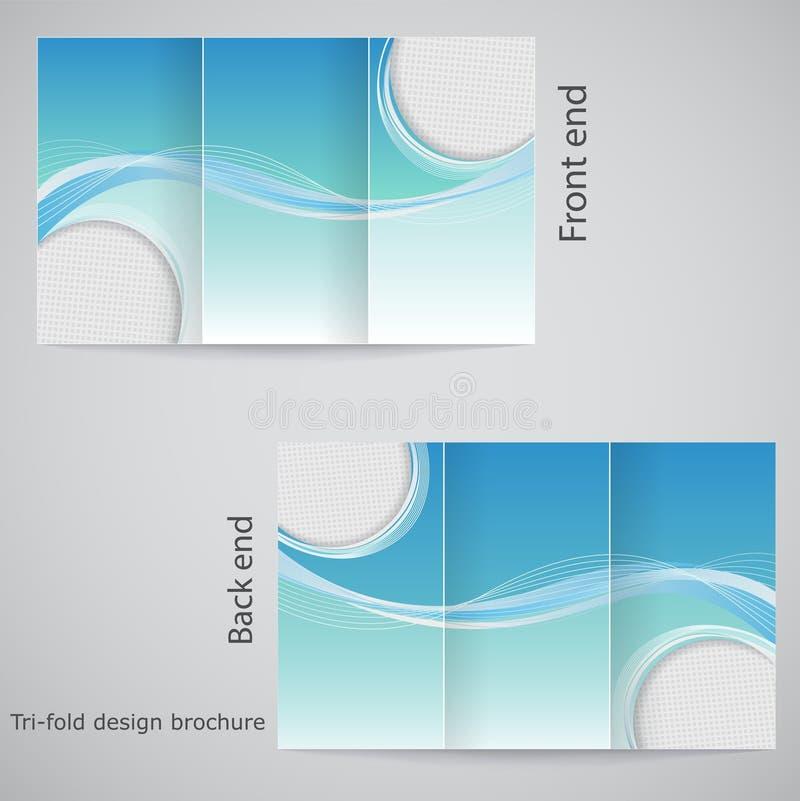 Diseño triple del folleto. libre illustration
