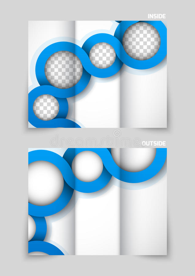 Diseño triple del folleto libre illustration