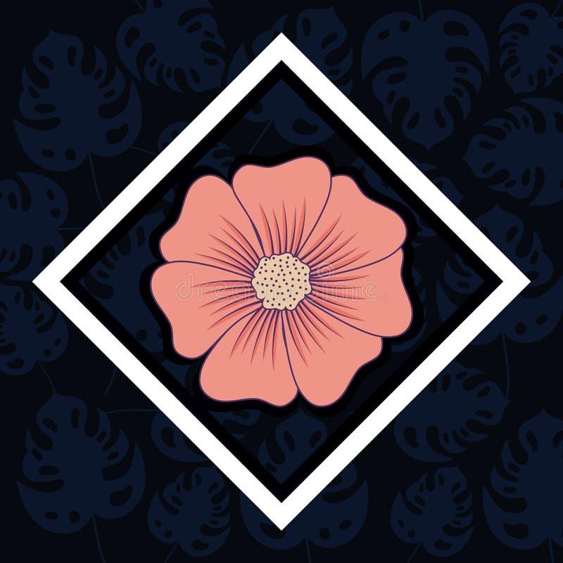 Diseño tropical de las flores ilustración del vector