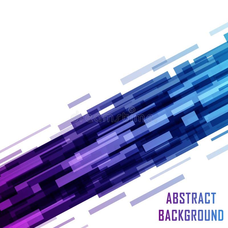 Diseño ultravioleta geométrico, shap de la tecnología de Digitaces de los rectángulos ilustración del vector