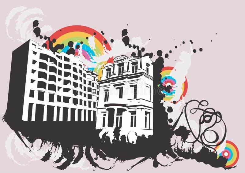 Diseño urbano ilustración del vector