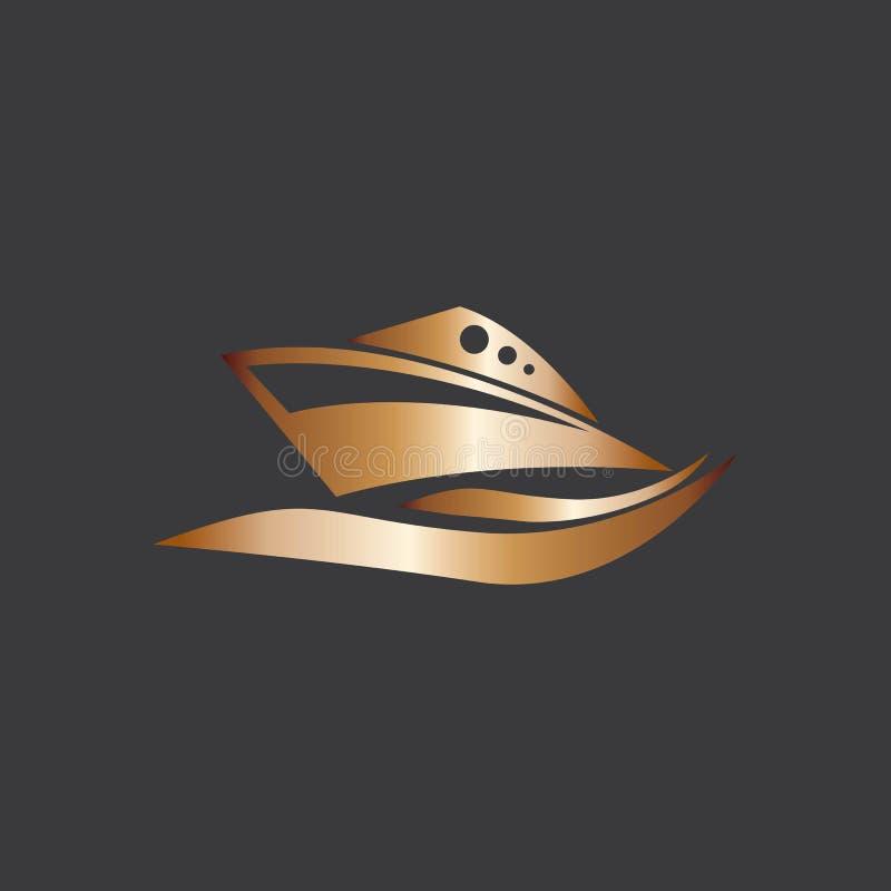 Diseño vectorial del logotipo Yatch en la ilustración marítima libre illustration