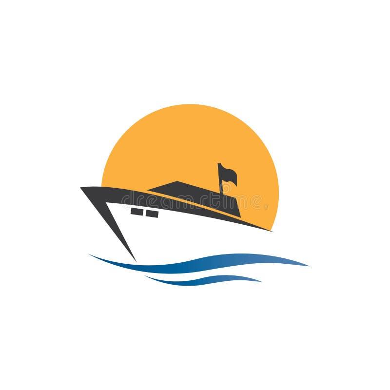 Diseño vectorial del logotipo Yatch en la ilustración marítima ilustración del vector