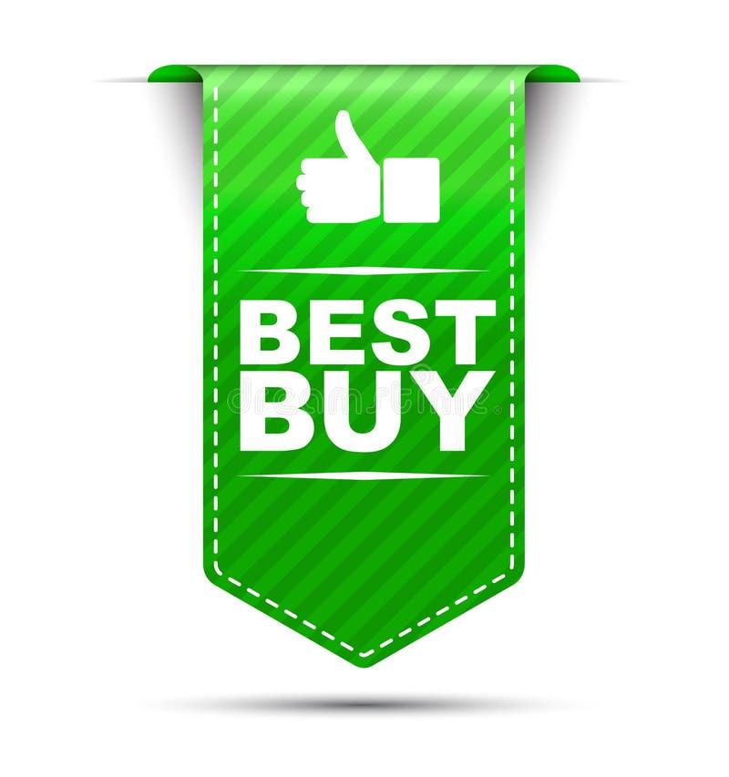 Diseño verde Best Buy de la bandera ilustración del vector