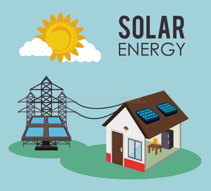 Diseño verde de la energía libre illustration