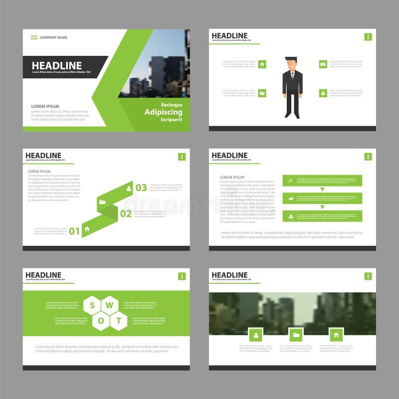 Diseño verde de la plantilla del aviador del folleto del prospecto del informe anual del vector, diseño de la disposición de la c libre illustration