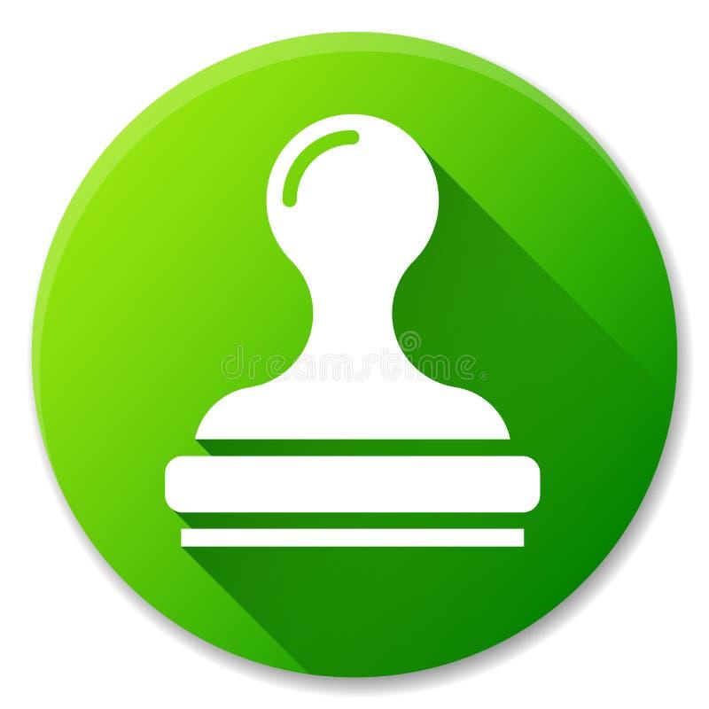 Diseño verde del icono del círculo del sello ilustración del vector