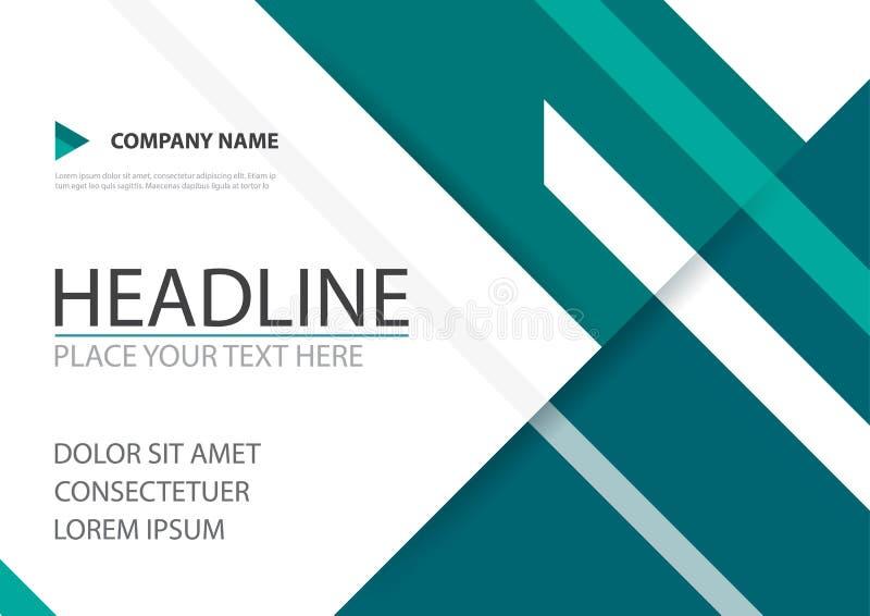Diseño verde del vector de la cubierta del aviador del folleto del negocio del triángulo, prospecto que hace publicidad del fondo libre illustration