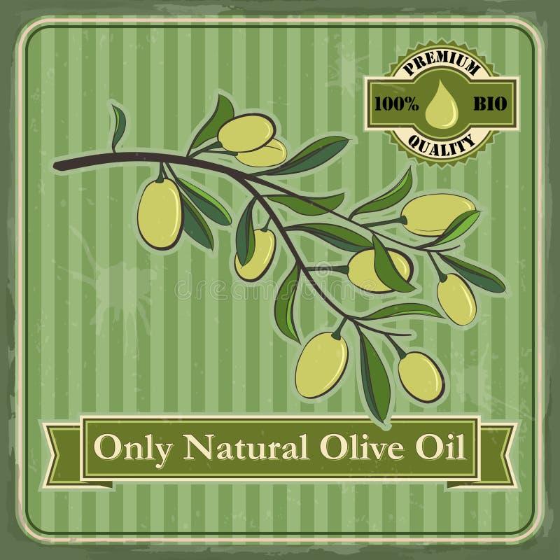 Diseño verde oliva del cartel del vintage libre illustration
