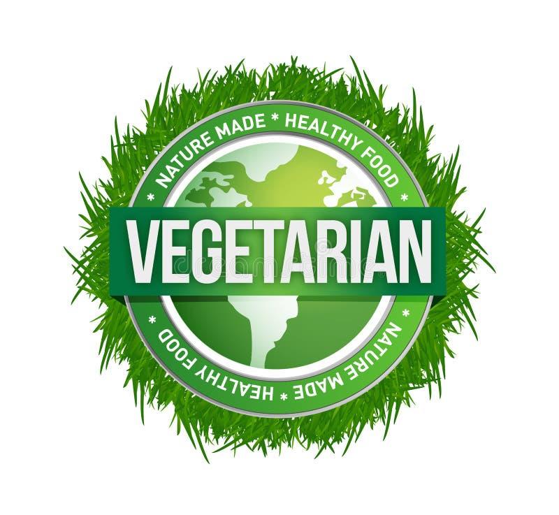Diseño verde vegetariano del ejemplo del sello libre illustration