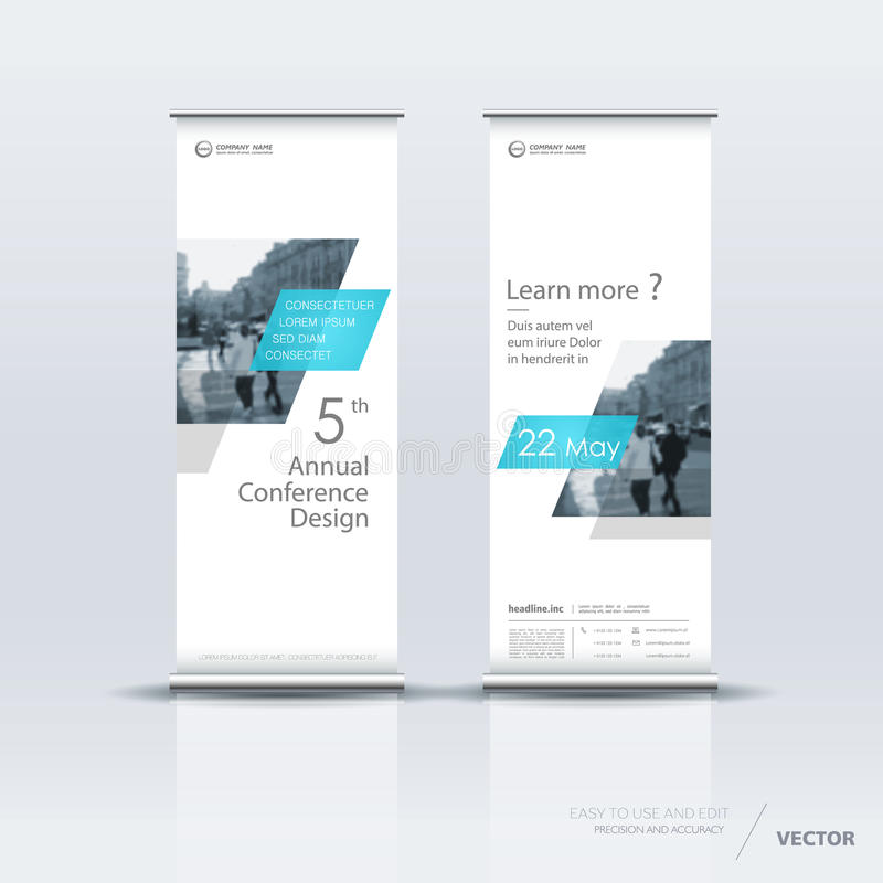 Diseño vertical de la plantilla de la bandera stock de ilustración