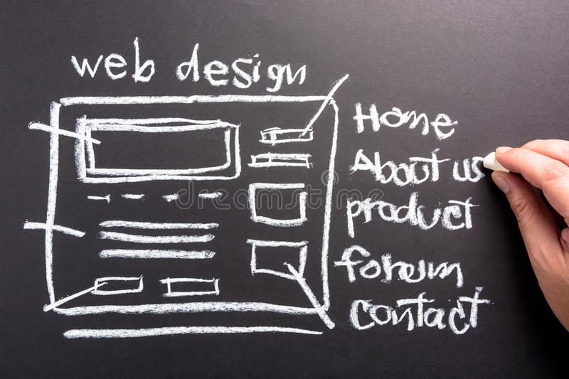 Diseño web fotos de archivo libres de regalías