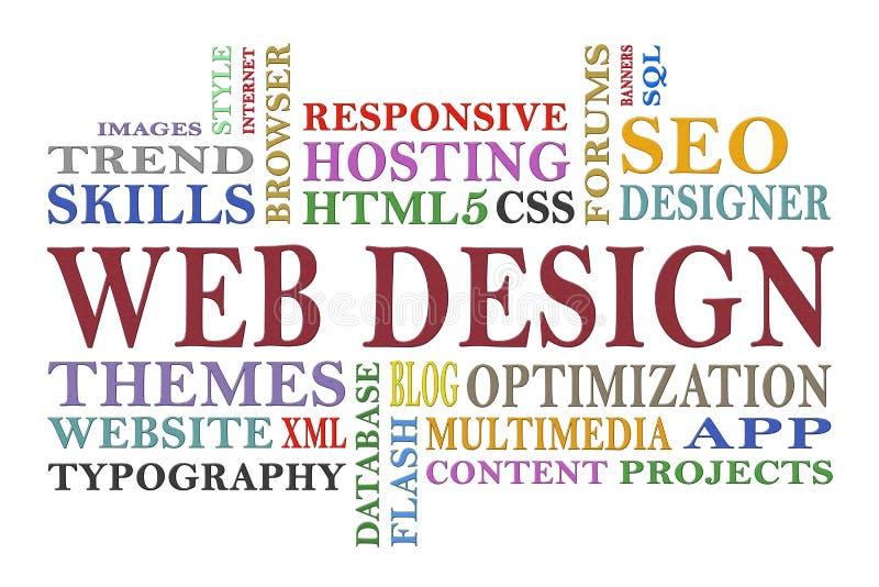 Diseño web stock de ilustración