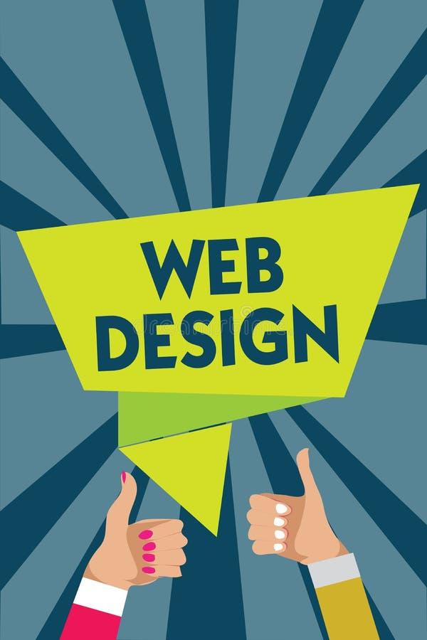 Diseño web de la escritura del texto de la escritura El significado del concepto que es responsable de la producción y del manten stock de ilustración