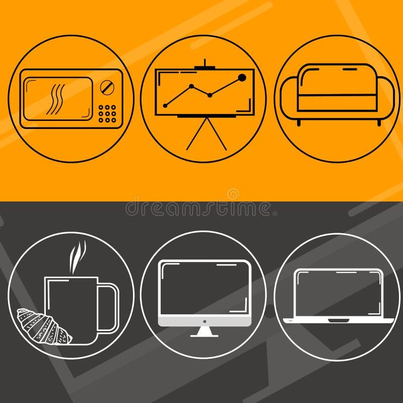 Diseño web del logotipo stock de ilustración