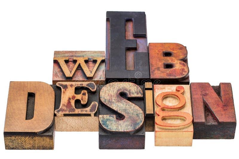 Diseño web en tipo de madera mezclado fotos de archivo