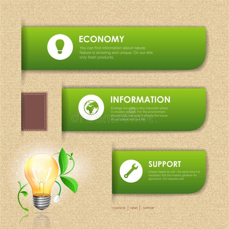 Diseño web. Fondo de la ecología stock de ilustración