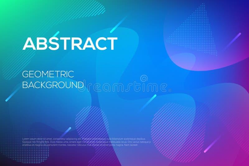 Diseño web futurista dinámico moderno, plantilla de aterrizaje de la página ilustración del vector