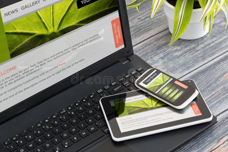Diseño web responsivo foto de archivo libre de regalías