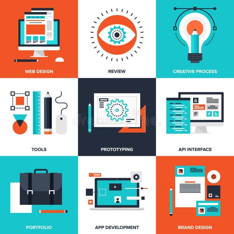 Diseño y desarrollo stock de ilustración