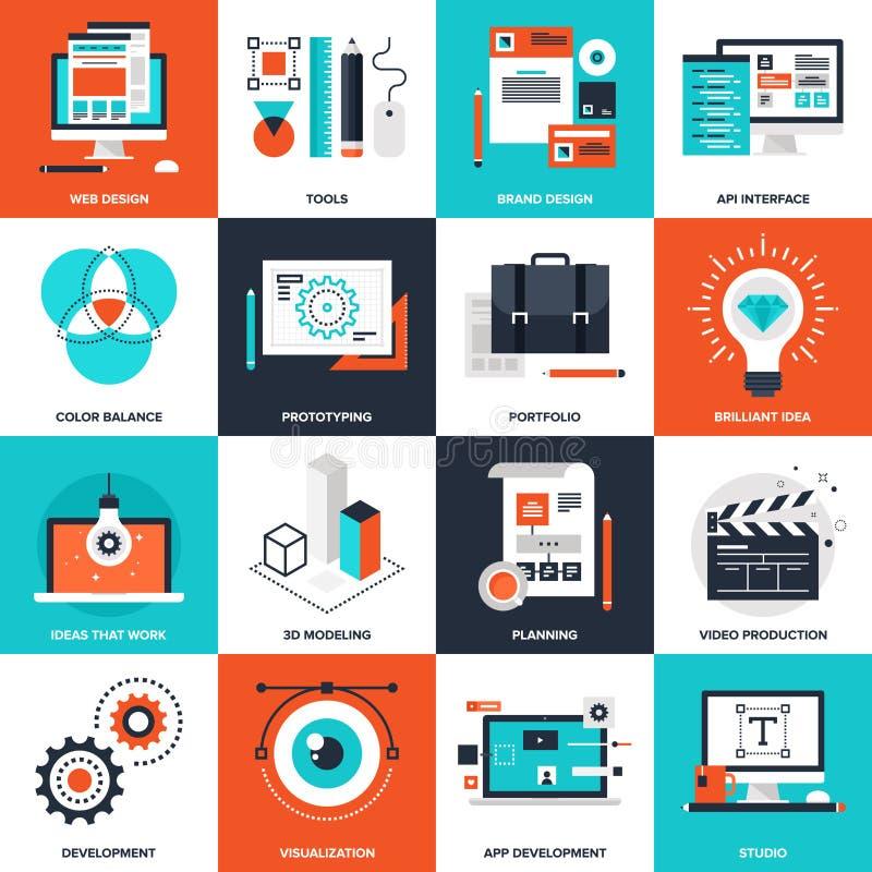 Diseño y desarrollo ilustración del vector