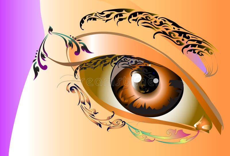 Diseño y línea del arte de la señora tailandeses ilustración del vector