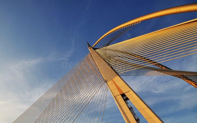 Diseño y modelo del puente imagen de archivo