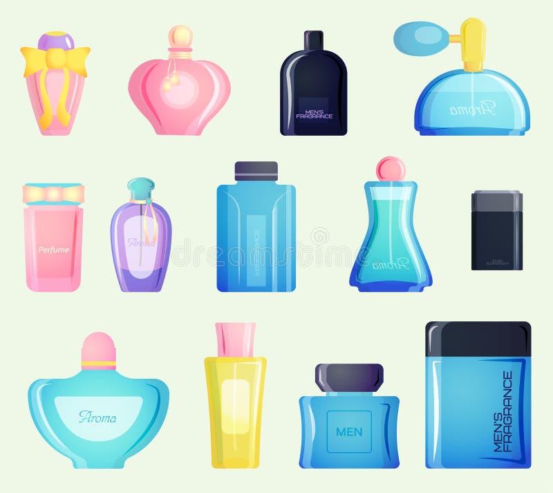 Diseño y parfume en blanco del envase del vector del icono de la caja del paquete de los cosméticos libre illustration