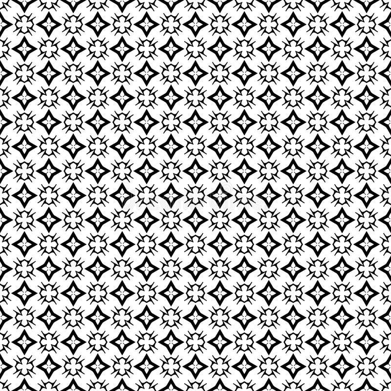 Diseños blancos negros de la repetición del vector imágenes de archivo libres de regalías