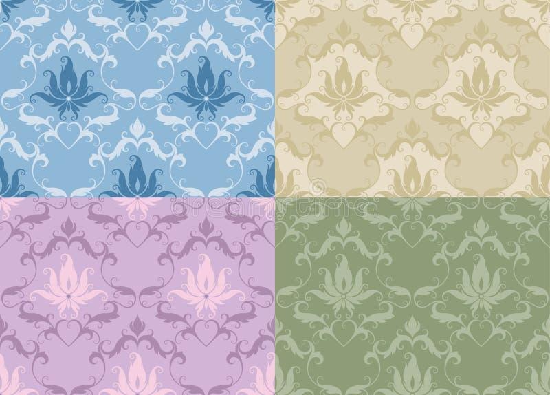 Diseños coloridos del extracto ilustración del vector