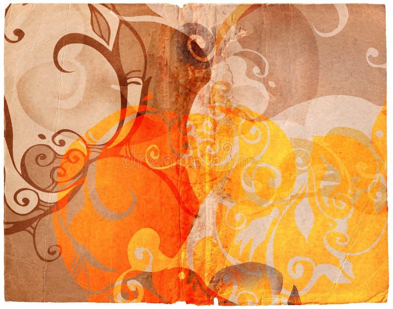 Diseños de Grunge en el papel viejo ilustración del vector