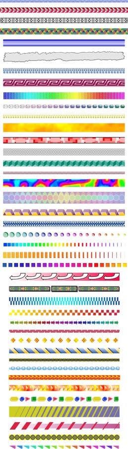 Diseños de la cabecera 40+ y del pie fotografía de archivo