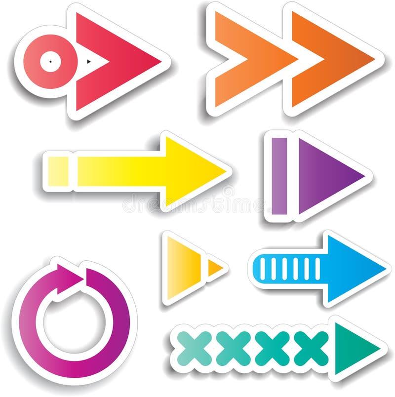Diseños de la flecha stock de ilustración